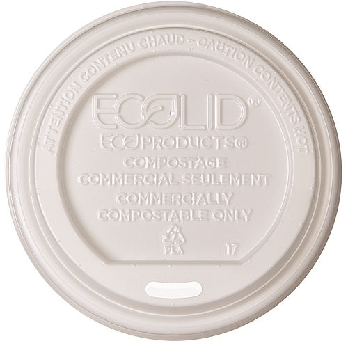 Tapa Biodegradable con Orificio para Vaso de Papel para Bebidas Calientes de 10-16oz - Eco-Products