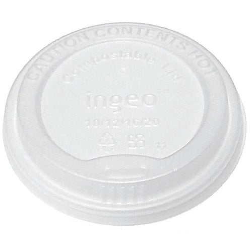 Tapa Biodegradable con Orificio para Vaso de Papel para Bebidas Calientes de 8oz - Bridge Gate