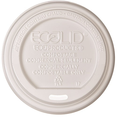 Tapa Biodegradable con Orificio para Vaso de Papel para Bebidas Calientes de 8oz - Eco-Products