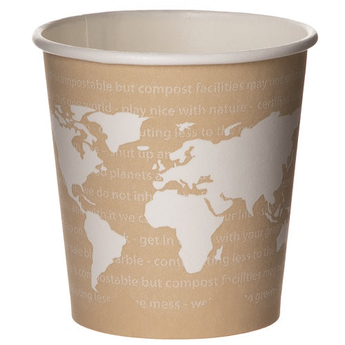Vaso Biodegradable de Papel para Bebidas Calientes, 4 oz - World Art - Eco-Products