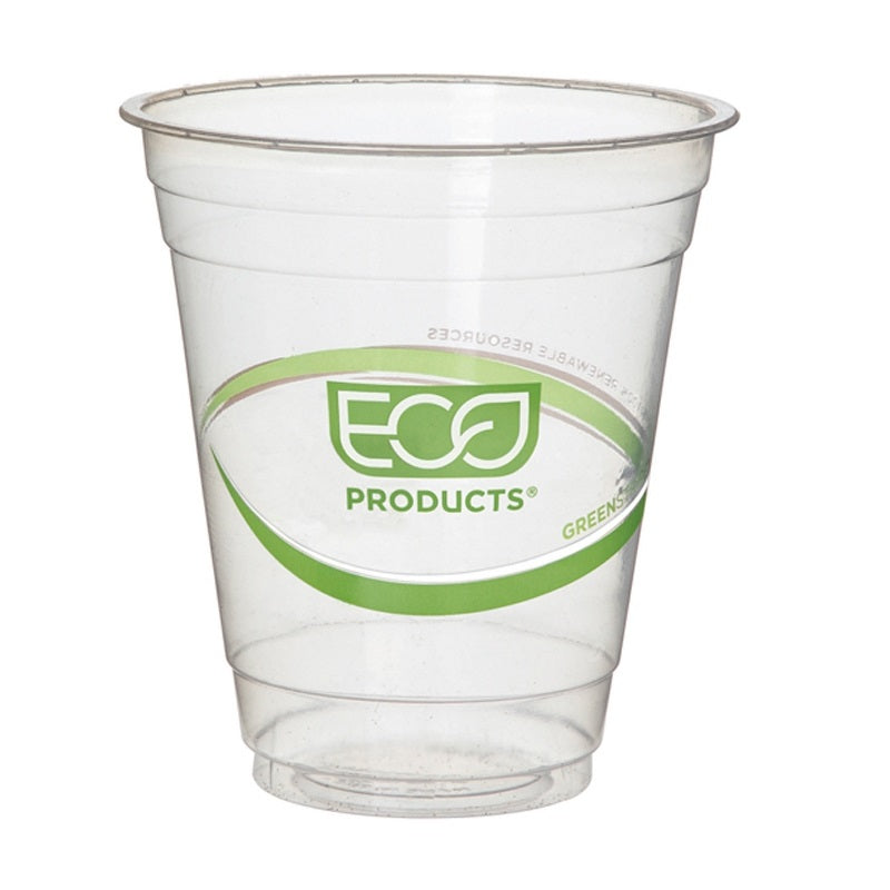 Vaso Biodegradable Transparente para Bebidas Frías, varios tamaños - Green Stripe - Eco-Products