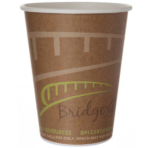 Vaso Biodegradable de Papel para Bebidas Calientes, Kraft, varios tamaños - Bridge Gate