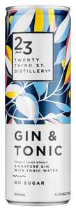 23rd Street Distillery Signature Gin & Tonic Cans 300mL