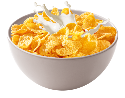 bowl of cereals with milk