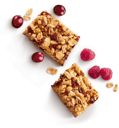 healthy bar with berries and cereals