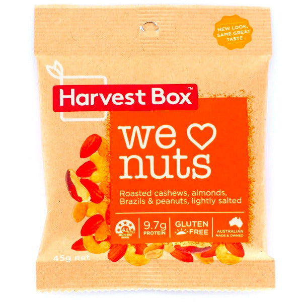 SnacksToGo Singapore delivery of Harvest Box We Love Nuts (45g)