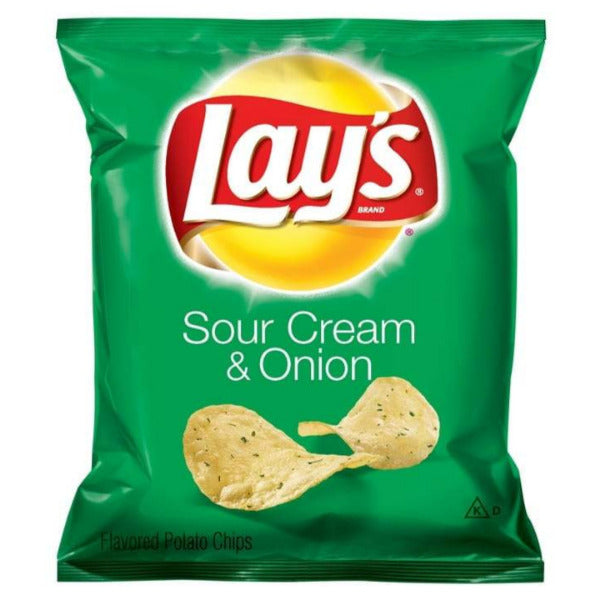 SnacksToGo Singapore delivery of Fritolays Lays Sour Cream and Onion (55 x 28.3g)