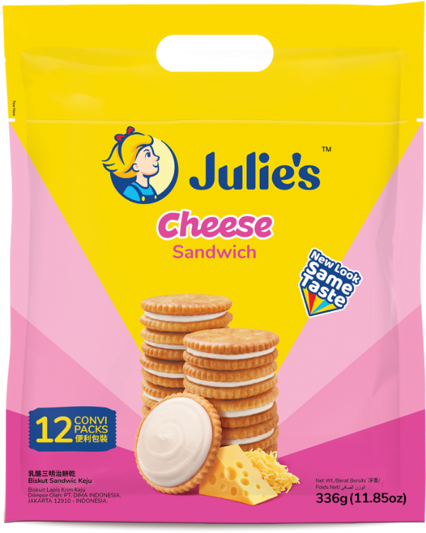 SnacksToGo Singapore delivery of Julie's Cheese Sandwich (22g)