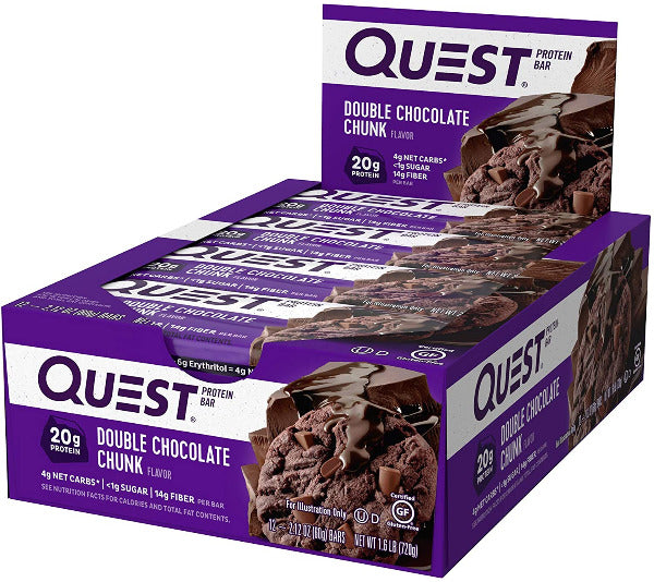 SnacksToGo Singapore delivery of Quest Bar Double Chocolate Chunk (60g)