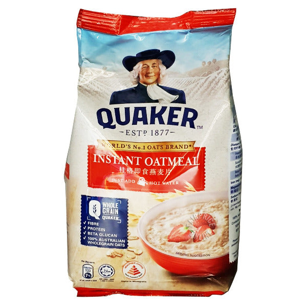SnacksToGo Singapore delivery of Quaker Hearty Supreme Quick Cook Oatmeal (900g)