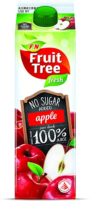 SnacksToGo Singapore delivery of F&N Fruit Tree 100% Apple NAS (1litre)