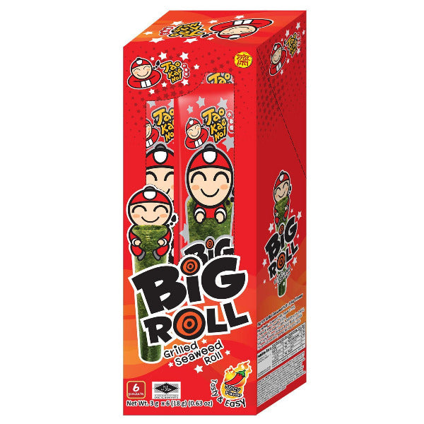 SnacksToGo Singapore delivery of Tao Kae Noi Big Roll Seaweed Spicy (6 x 3g)