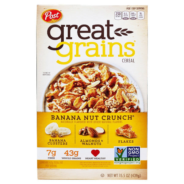 SnacksToGo Singapore delivery of Post Crunch Banana Nut Crunch (439g)