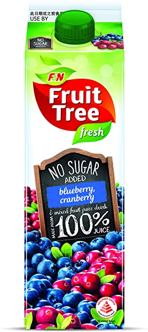 SnacksToGo Singapore delivery of F&N Fruit Tree Blueberry and Cranberry NAS (1litre)