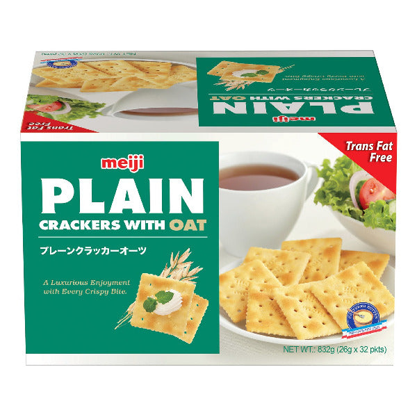 SnacksToGo Singapore delivery of Meiji Plain Crackers Oats (32 x 26g)