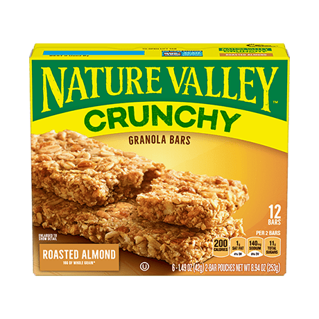 SnacksToGo Singapore delivery of Natures Valley Granola Bars Roasted Almond (21g)