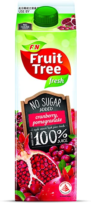 SnacksToGo Singapore delivery of F&N Fruit Tree Cranberry and Pomegranate NAS (1litre)