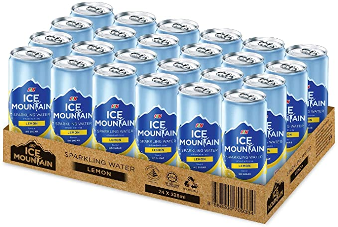 SnacksToGo Singapore delivery of F&N Ice Mountain Lemon Sparkling Water (325ml)
