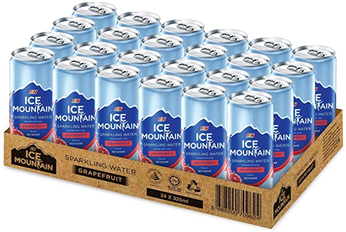 SnacksToGo Singapore delivery of F&N Ice Mountain Grapefruit Sparkling Water (325ml)