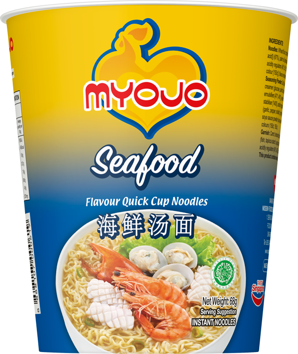 SnacksToGo Singapore delivery of Myojo Quick Cup Noodle Seafood (68gm)