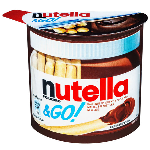 SnacksToGo Singapore delivery of Nutella and Go Sticks (48g)