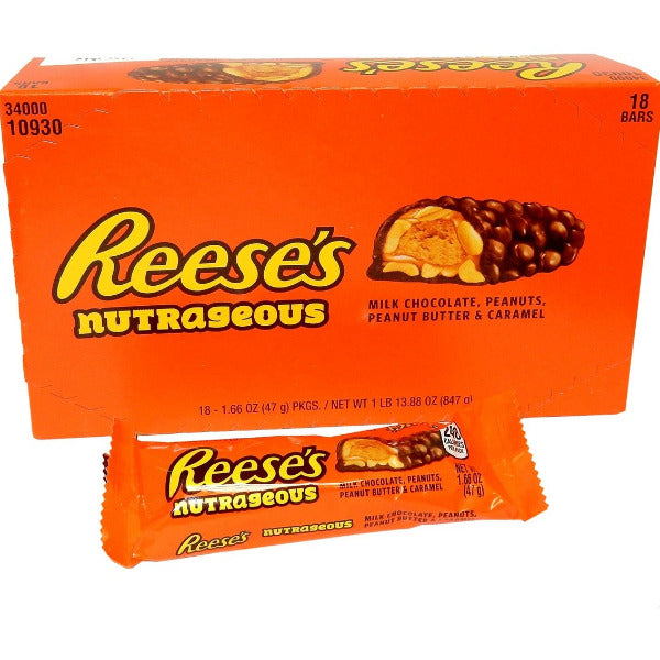 SnacksToGo Singapore delivery of REESES Nutrageous Chocolate Peanut Butter Bar (47g)