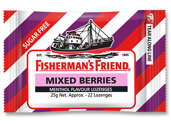 SnacksToGo Singapore delivery of Fisherman Friends Sugar Free Mixed Berries (25g)