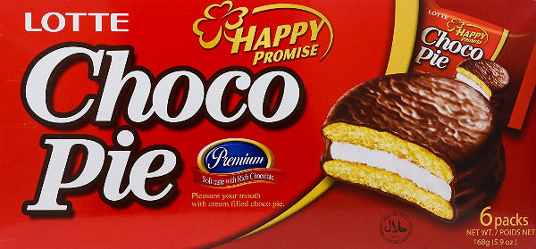 SnacksToGo Singapore delivery of Lotte Chocolate Pie (168g)