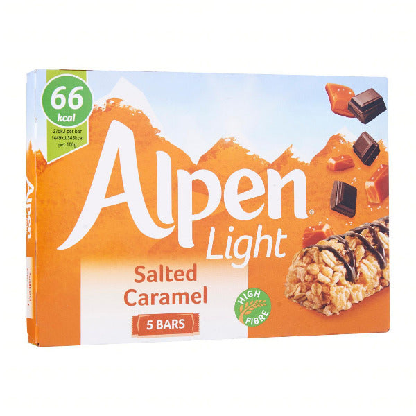 SnacksToGo Singapore delivery of Alpen Light Salted Caramel 5 pack (19g)