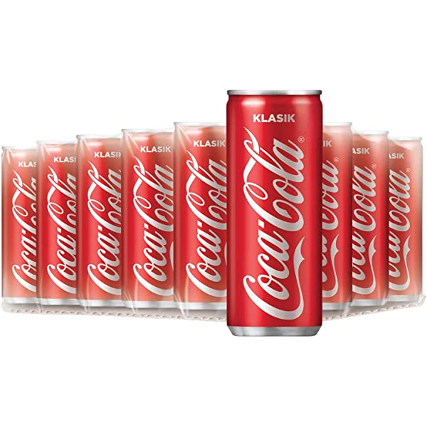 red classic coca cola 12 cans of 320ml