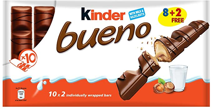 SnacksToGo Singapore delivery of Kinder Bueno T10's (86.4g)