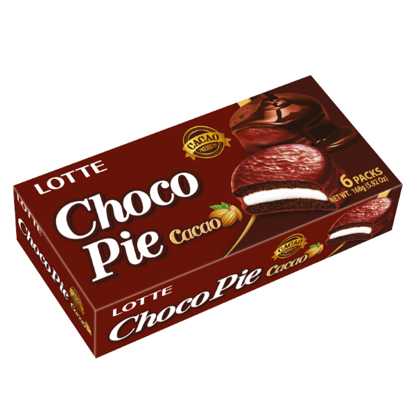 SnacksToGo Singapore delivery of Lotte Choco Pie Cacoa (168g)