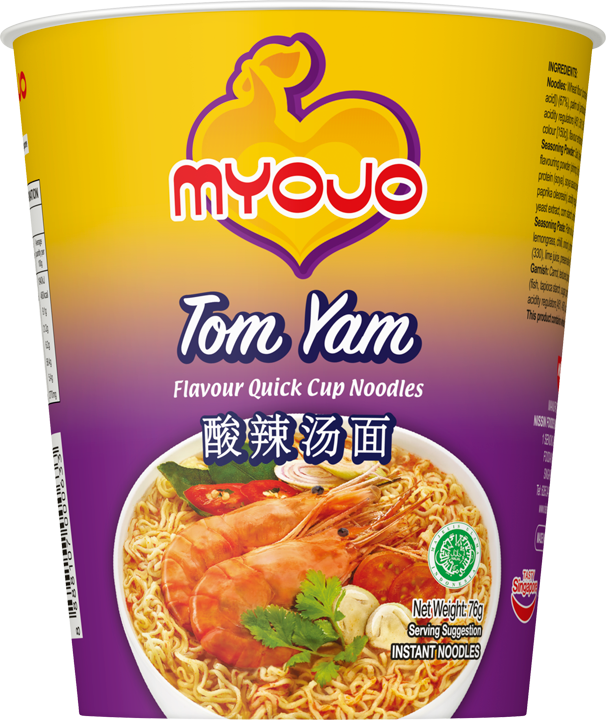 SnacksToGo Singapore delivery of Myojo Quick Cup Noodle Tom Yam (76gm)