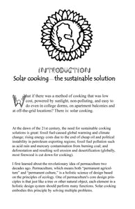 The Sunny Side of Cooking - Solar cooking and other ecologically friendly cooking methods for the 21st century