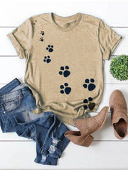 Cute paw short sleeve