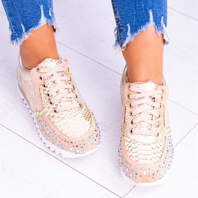 All Season Rhinestone Date Flats