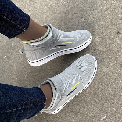 All Season Flat Heel Fabric Sneakers