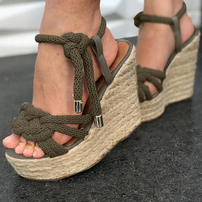 Women Summer Elegant Wedge Sandals