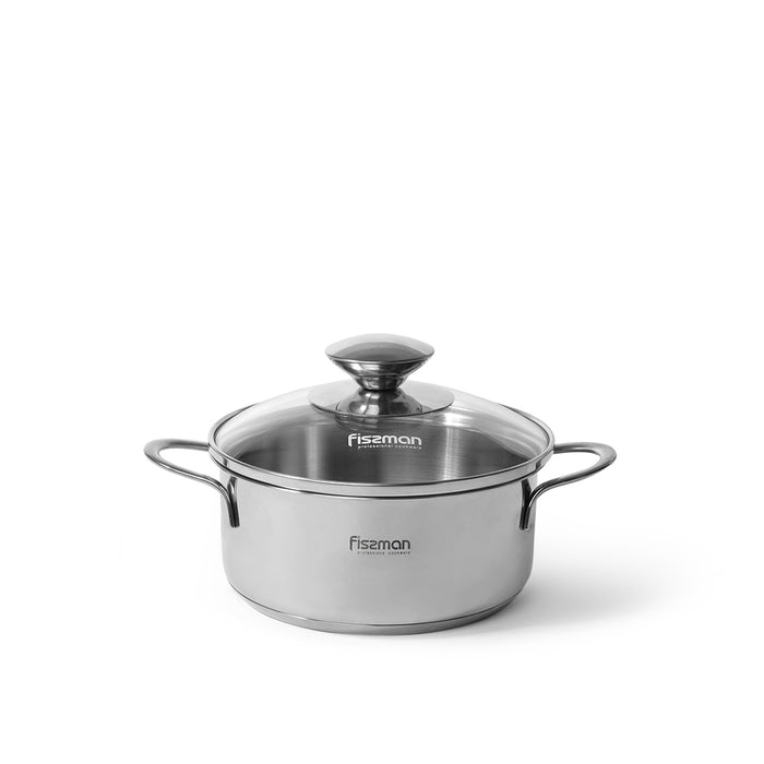 BAMBINO Mini cooking pot with glass lid 14x6.0 cm / 0.9 LTR