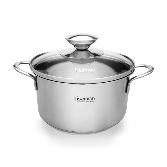 Mini cooking pot BAMBINO 14x7.5 cm / 1,1 LTR with glass lid
