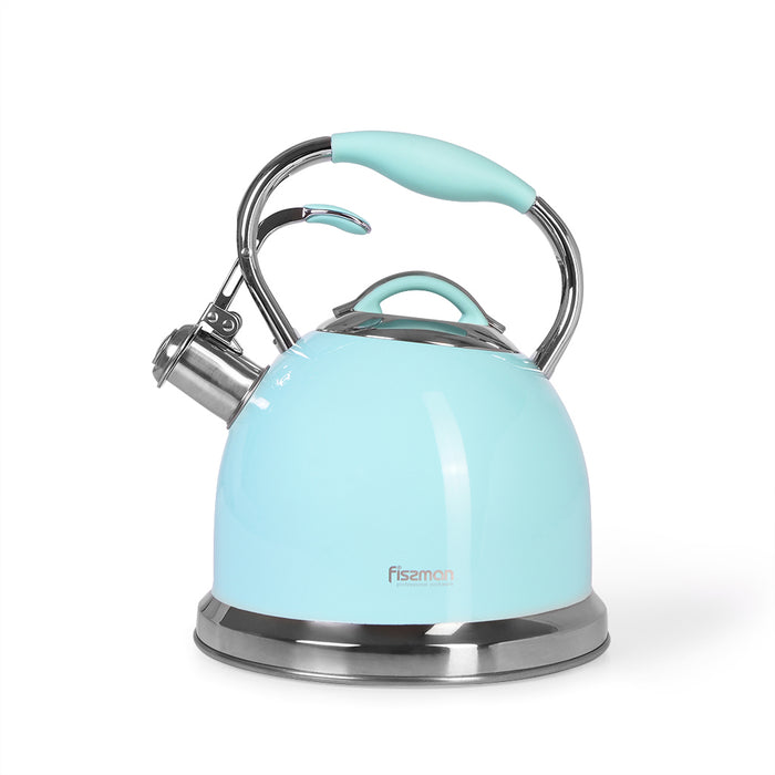 Whistling kettle FELICITY 2.6 LTR AQUAMARINE (stainless steel)
