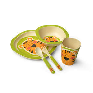 Dinner set TIGER 5 pcs (bamboo fibre)
