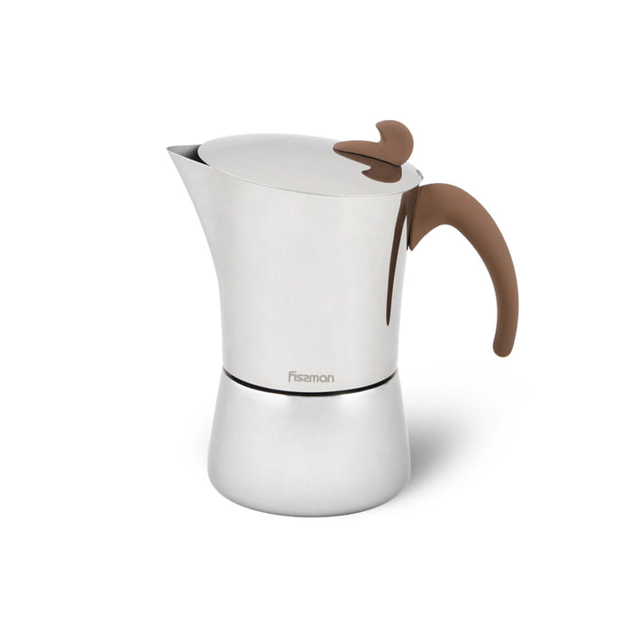 Stovetop Espresso maker for 9 cups / 540 ml (stainless steel)