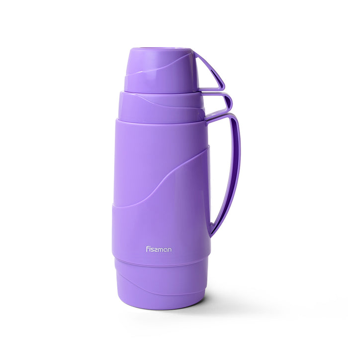 Vacuum bottle 1000 ml PURPLE with glass liner