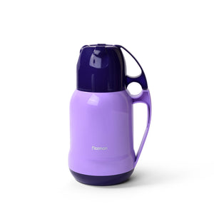 Vacuum bottle 1000 ml PURPLE with glass liner inside