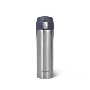 Double wall vacuum travel mug 420 ml (stainless steel)