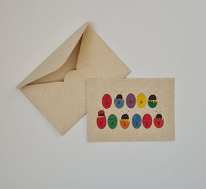 "Plantable ""Easter eggs"" postcard"