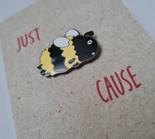 "Load image into Gallery viewer, Enamel pin card ""Just Bee Cause"""