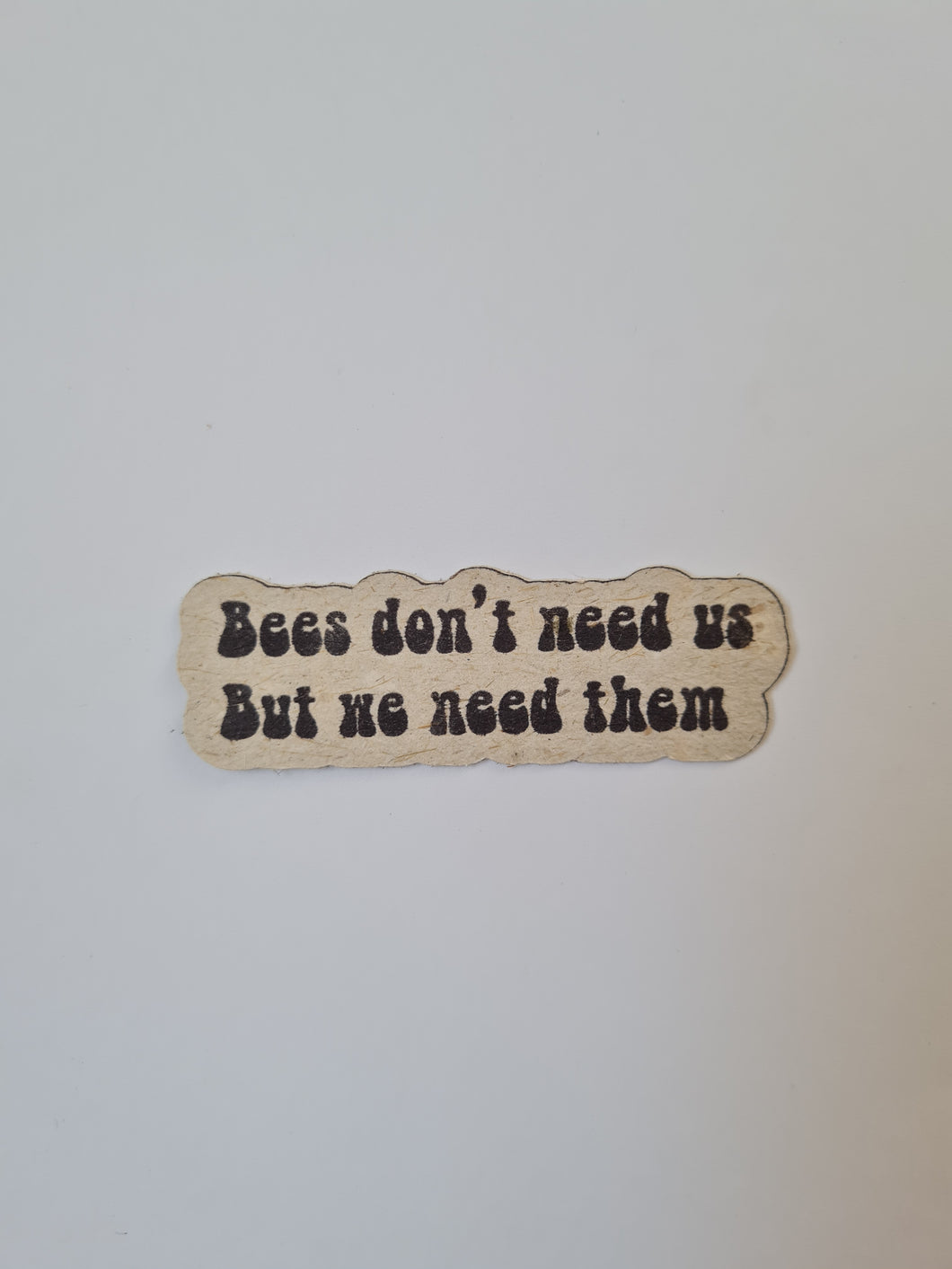 eco, sticker, tree free paper, bees, bee saving paper