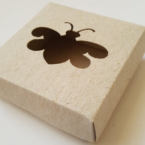 Plantable bee saving box